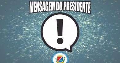 Mensagem do Presidente: A retirada de competência do juizado em julgar os processos de promoções